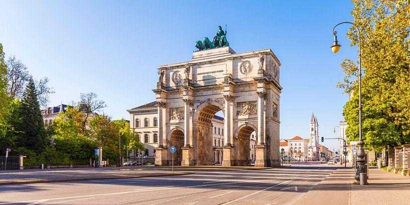 Victory Gate in Munich van Werner Dieterich