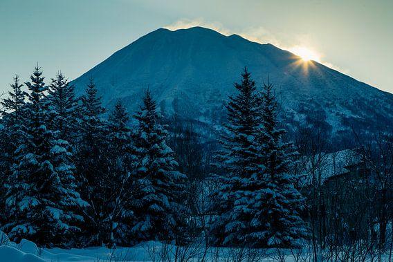 Zonsopkomst in het Noorden van Japan.