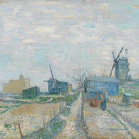 Vincent van Gogh, Montmartre molens en moestuinen van 1000 Schilderijen