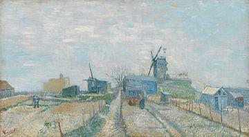 Vincent van Gogh, Montmartre Mühlen und Gemüsegärten von 1000 Schilderijen