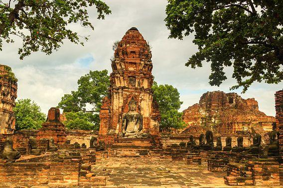 Wat Phra Mahathat tempelcomplex van Ilya Korzelius