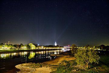 Deventer stadsgezicht bij nacht van Peter Slagboom