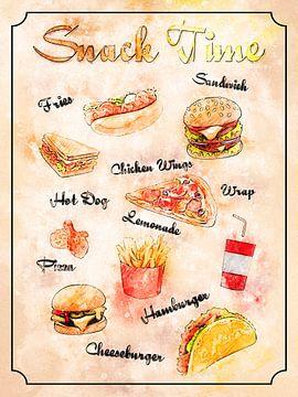 Snack - Fast Food van Printed Artings