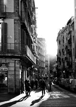 nostalgisch barcelona in zwart wit van Giovanni de Deugd