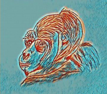 Gorilla von Jose Lok