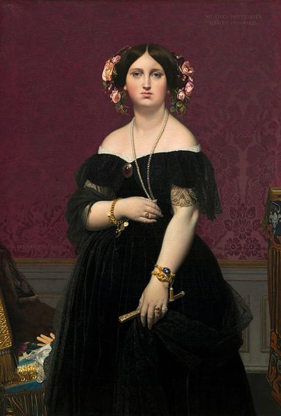 Madame Moitessier, Jean Auguste Dominique Ingres von Meesterlijcke Meesters