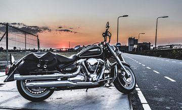 Yamaha Wildstar Sonnenuntergang von Westland Op Wielen
