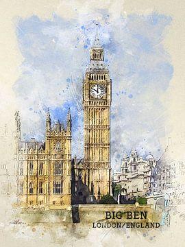 Big Ben van Printed Artings