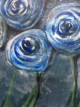 """""""Blumenbonbons"""" Ausschnitt 3 van Susanne A. Pasquay"""
