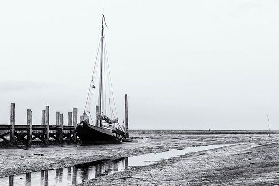 Laag water in de haven