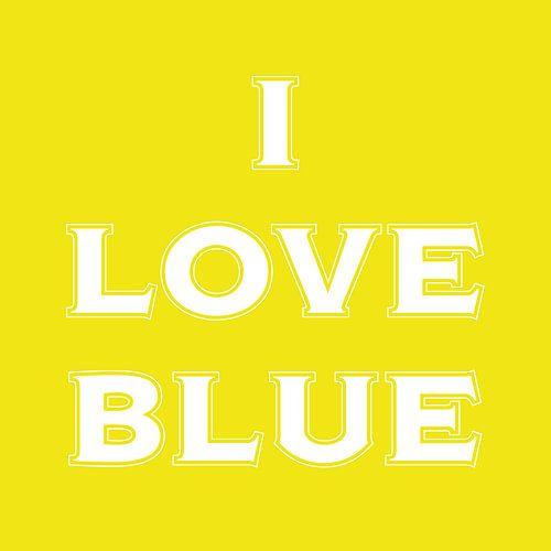 I love blue in yellow  van