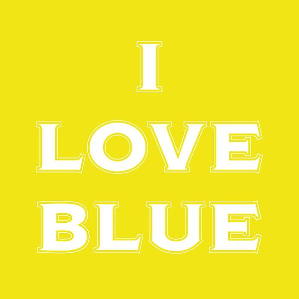 I love blue in yellow  van Stefan Couronne