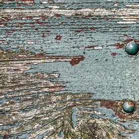 Planche en bois patinée sur Frans Blok