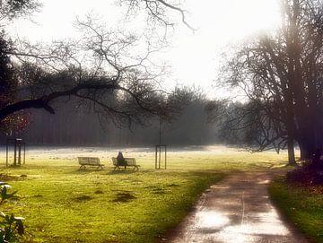 Zonnebaden in de winterzon van Edgar Schermaul