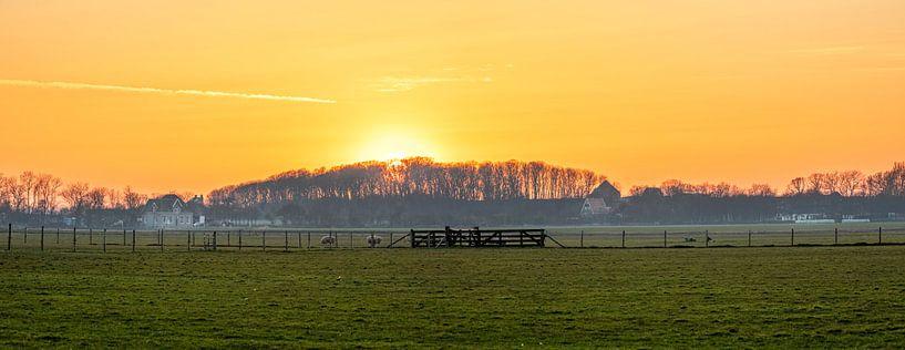 Panorama Doolhof en Hogeberg op Texel. van Justin Sinner Pictures ( Fotograaf op Texel)