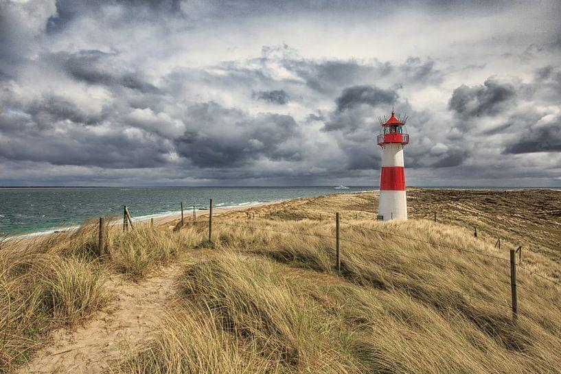 Leuchtturm am Ellenbogen van Annett Mirsberger