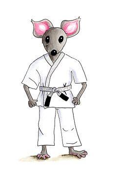 Muis op judo van Ivonne Wierink