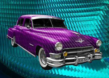 Chrysler Imperial Series C54 in roze & lichtblauw van aRi F. Huber
