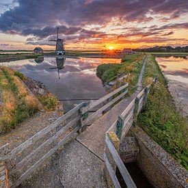 Molen t Noorden op Texel. van Justin Sinner Pictures ( Fotograaf op Texel)