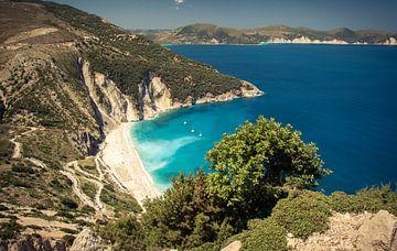 Myrtos Strand, Kefalonia, Griechenland von Sven Wildschut