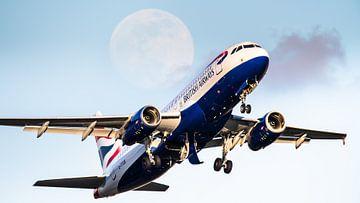 Vliegtuig langs de maan van Dennis Janssen