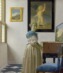 Staande virginaalspeelster, Johannes Vermeer