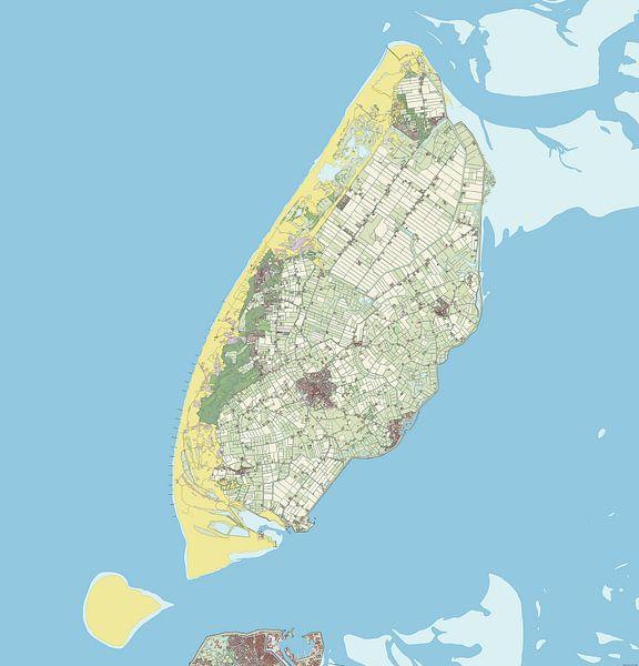 Kaart vanTexel