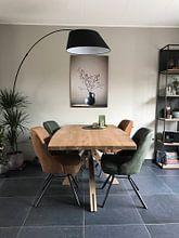 Kundenfoto: Blaue Vase mit Beeren von Karin Bazuin, auf hd metal
