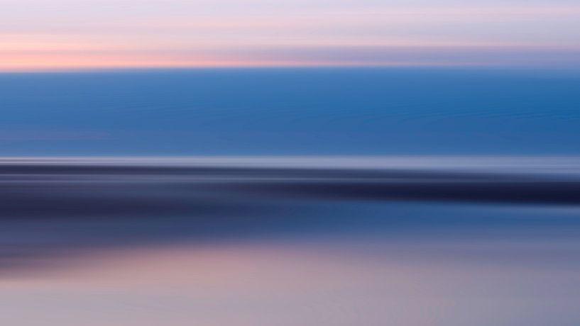 Strand abstractie van Greetje van Son