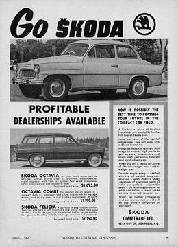 Skoda Octavia Sedan and Combi Werbung 1962