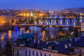 Ansicht über die alte Stadt in Prag, Tschechische Republik - 3 von Tux Photography