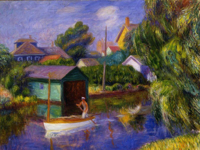 William Glackens-Das grüne Bootshaus von finemasterpiece