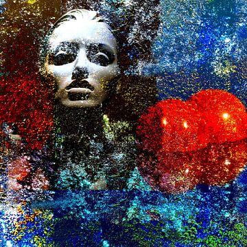 Vrouw met drie ballen van Dusan Pintner