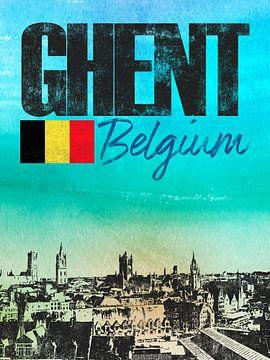 Gent Belgien von Printed Artings