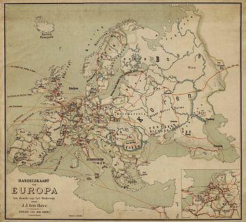 Handelskaart van Europa  sur