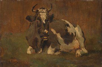 Liegende Kuh, Anton Mauve