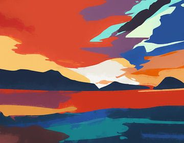 Vibrierender Sonnenuntergang von Angel Estevez