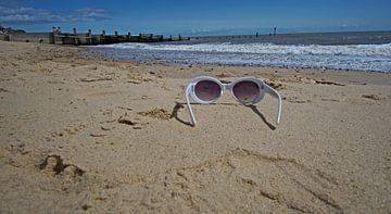 Southwold Beach is een bezoek waard, en niet alleen voor de vuurtoren. van Babetts Bildergalerie