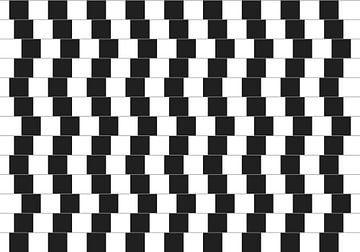 Optische illusie cafémuur von Mike Maes
