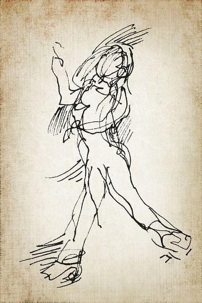 Danser toen en nu 3 van Eva van den Hamsvoort