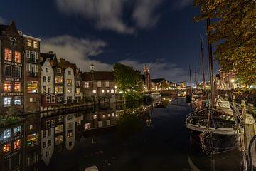 Delfshaven in de nacht.. van Patrick Löbler