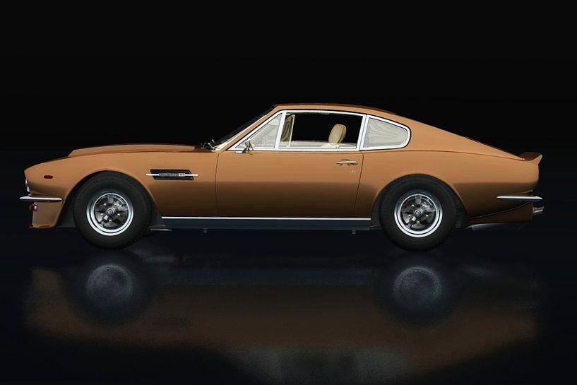 Aston Martin Vantage 1977 Zijaanzicht van Jan Keteleer