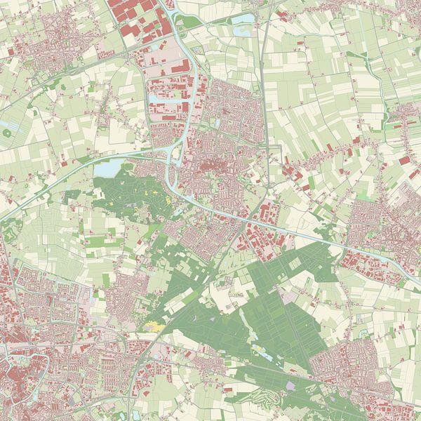 Kaart vanOosterhout van Rebel Ontwerp