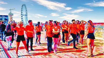 Dansers op de Pier van Scheveningen van Digital Art Nederland