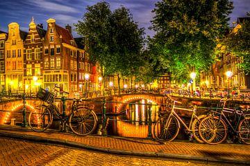 Amsterdam bei Nacht von Menno Janzen