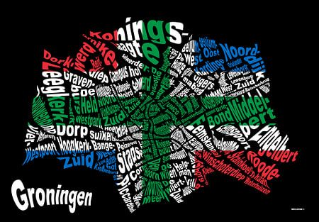 Textmap Groningen (vlag)