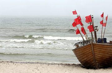 Fischerboot van Heike Hultsch