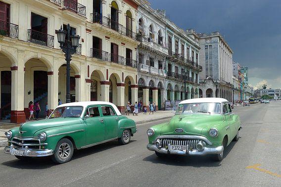 Straat in Havana van Annelies van der Vliet