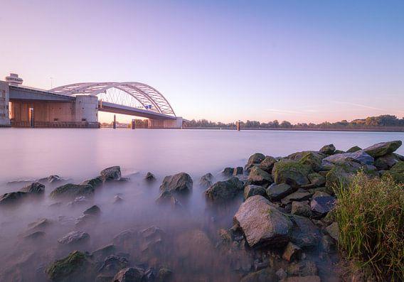 Zonsopgang van Brienenoordbrug Rotterdam
