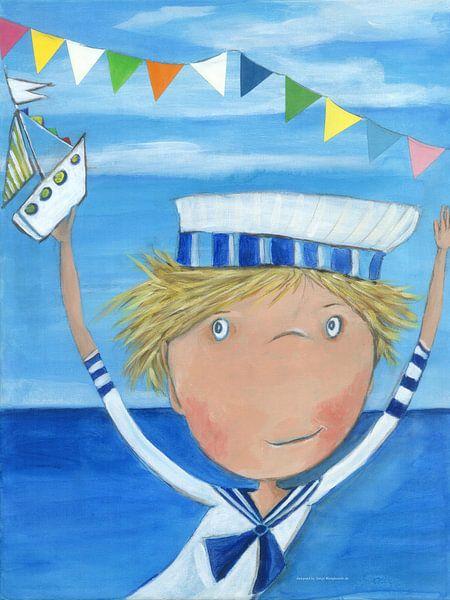 Matroos FYN - Schilderij voor Kinderen van Atelier BuntePunkt